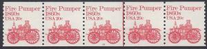 #1908 20c Fire Pumper 1860s PNC/5 #10 1981 Mint NH