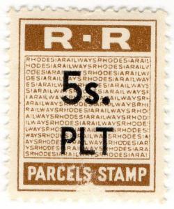 (I.B) Rhodesia Railways : Parcels Stamp 5/-