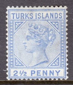 Turks Islands - Scott #52 - MH - SCV $3.50