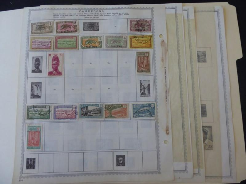 Camerouns 1916-1956 Mint/Used Stamp Collection on Minkus Album Pages
