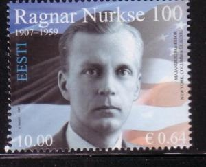 Estonia Sc578 2007 Ragnar Nurske stamp  NH
