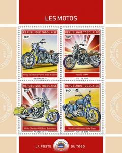 Z08 TG190124a TOGO 2019 Motorcycles MNH ** Postfrisch