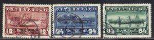 AUSTRIA SCOTT #382-84 1937  STEAM SHIPS     SEE SCAN