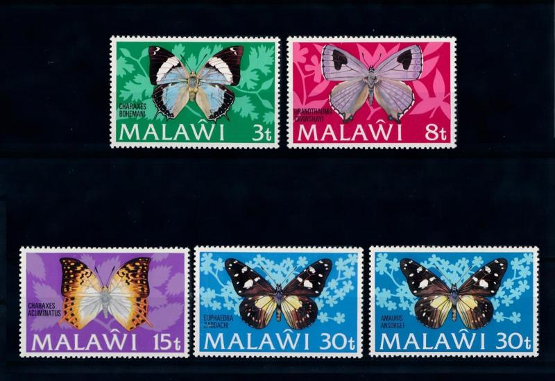 [70670] Malawi 1973 Insects Butterflies 30t With both types MNH