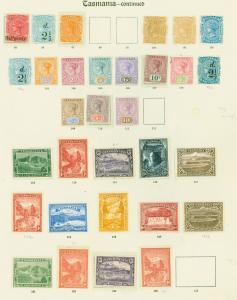 Tasmania Mint Classics Stamp Collection on Old Imperial Pages