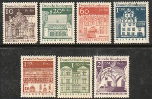 GERMANY-Berlin, 9N237/9N250, SHORT SET  (7 STAMPS). MINT, NH. F-VF. (358)