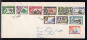 Gilbert & Ellice Islands KGVI set to 2/ Canton Island to US 1956 a923