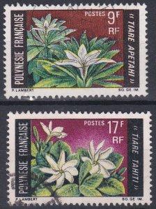 French Polynesia Sc #245-246 Used