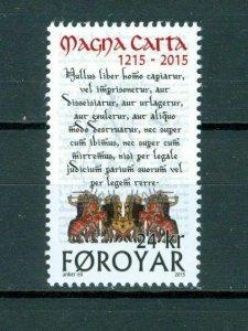 Faroe Islands. 2015. Magna Carta 800 Years Mnh. 24 Kr.