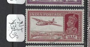 INDIA (PP1502B) KGVI  12A  AIRPLANE  SG 258   MOG