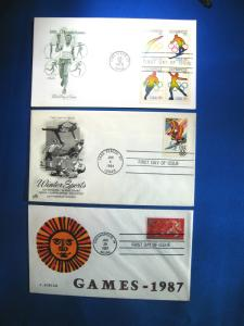LOT OF 3 - SPORTS TOPIC  FDCs     (ST32)