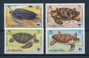 [53848] Anguilla 1983 Marine life WWF Sea turtles MNH