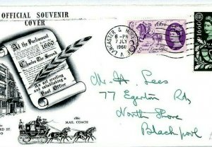 GB FDC Illustrated First Day Cover *General Letter Office* 1960 CZ8