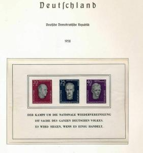 East Germany 1958/59 MNH+Sheet (Appx 100 Items) (St 344