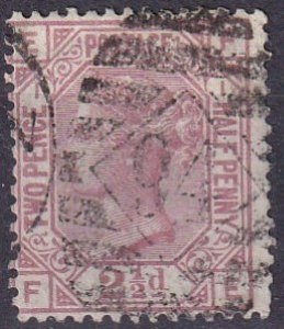 Great Britain #66 Plate 1 F-VF Used CV $90.00  (Z4281)