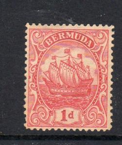 BERMUDA #83  1928  1p  CARAVEL     MINT  VF NH  O.G  aa