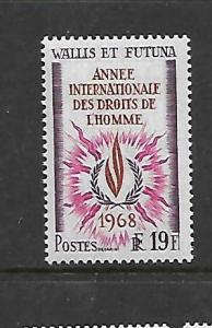 WALLIS & FUTUNA ISLANDS, 170, MINT HINGED, HUMAN RIGHTS YEAR