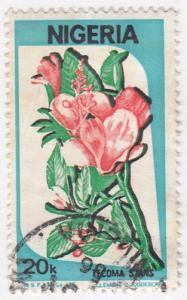Nigeria, Sc # 493, Used, 1986, Flowers