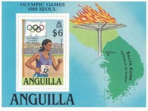 Anguilla SC763 SS SummerOlympics,Seoul-Womens 200Meters 1988 MNH 1988