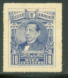 MEXICO 505, 10¢ Pres. BENITO JUAREZ. UNUSED, H OG. VF.