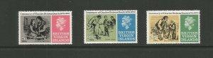 British Virgin Islands,1970 Death Centenary Of Charles Dickens UMM Set SG 257/9