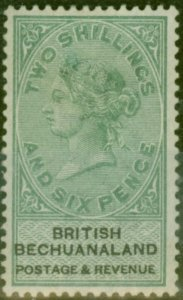 Bechuanaland 1888 2s6d Green & Black SG17 Fine Very Lightly Mtd Mint