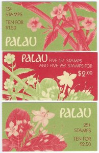 Palau Scott 131a, 133a, 133b Booklets Mint Never Hinged