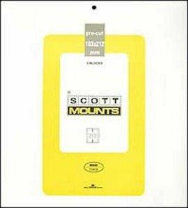 Scott/Prinz Pre-Cut Souvenir Sheets Small Panes Stamp Mounts 183x212 #1002 Clear