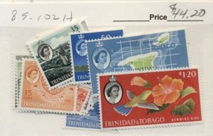 TRINIDAD & TOBAGO #89-102, Mint Hinged, Scott $44.20
