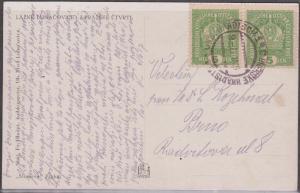 Austro=Hungarian 1917 Postcard to BRNO, Czechoslovakia - Net $4.99