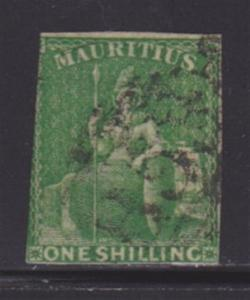 Mauritius 21 F- VF-used neat cancel nice color cv $ 150 ! see pic !