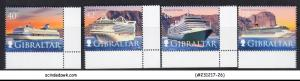 GIBRALTAR - 2015 CRUISE SHIPS IV Series - 4V - MINT NH