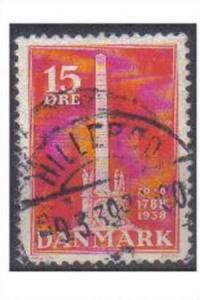 DANMARK, 1938, used 15ore 150th Anniv of Abolition of Villeinage.