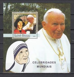 Guinea Bissau, Mi cat. 2431 C. Copernicus & Pope John Paul II s/sheet. ^