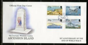 ASCENSION  50th ANNIVERSARY OF THE END OF WORLD WAR II SET  FIRST DAY COVER
