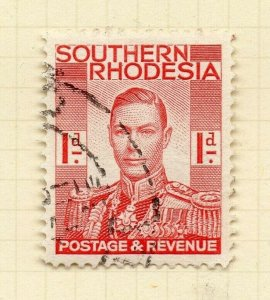 Southern Rhodesia 1937 Early Issue Fine Used 1d. NW-14391