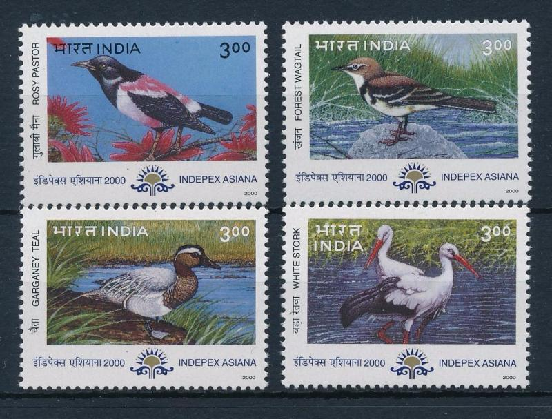 [38173] India 2000 Birds Vögel Oiseaux Ucelli   MNH