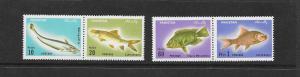 FISH - PAKISTAN #348-51 MNH