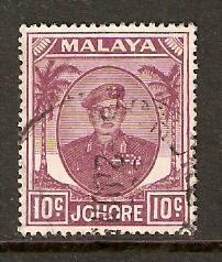 Malaya-Johore  #138  used  (1949)  c.v. $0.25