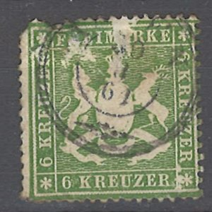 COLLECTION LOT # 2036 WURTTEMBERG  #21 1860 CV=$100 FAULTY