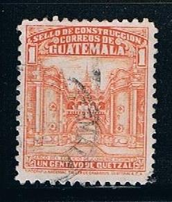 Guatemala RA22: 1c Arch of Communications Building, used, VF