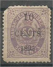 DANISH WEST INDIES, 1895, used 10c on 50c, Surcharged. Scott 15