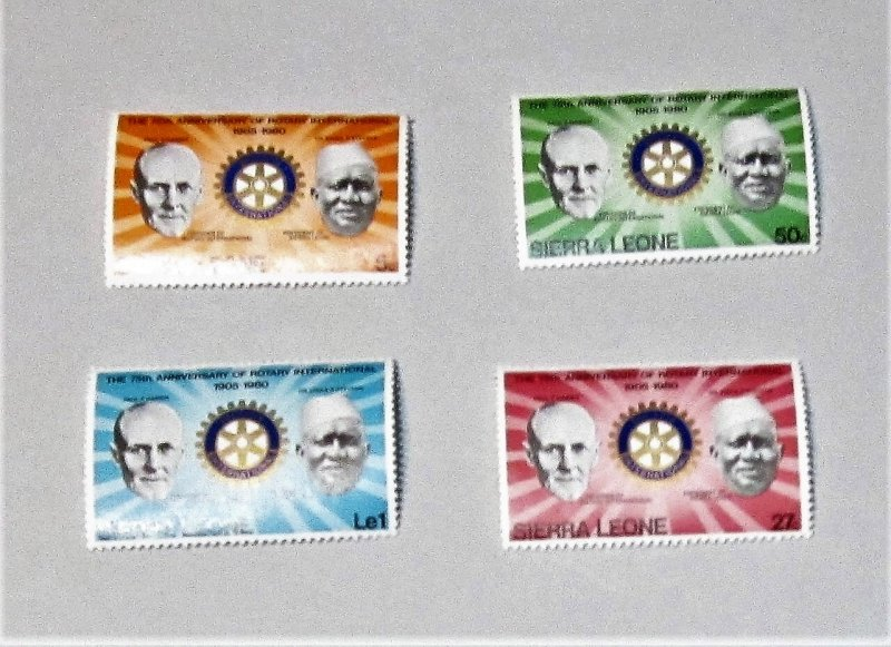 Sierra Leone - 477-80, MNH Set. Rotary Int. 75th Anniversary. SCV - $1.75