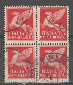 COLLECTION LOT # 4956 ITALY #C19 1930 BLOCK OF 4 CV+$26