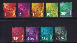 GB Scott # J104 - J112 set VF OG never hinged nice color cv $ 49 ! see pic !
