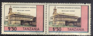 TANZANIA  SC# 234 **USED**  1.50sh  1983  HISTORICAL BUILDING PAIR SEE SCAN