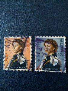 Hong Kong QE II. $5 and $20 stamps