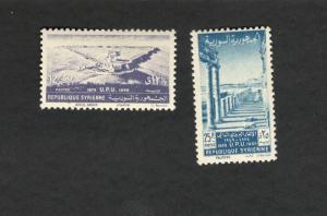 1949 Republique Syriene SCOTT #349-50  MH stamp set