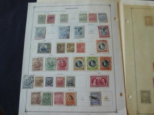 Barbados 1882-1975 Stamp Collection on Scott Intl Album Pages