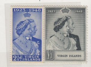 Virgin Islands KGVI 1948 Silver Wedding Set SG124/125 MNH JK2449